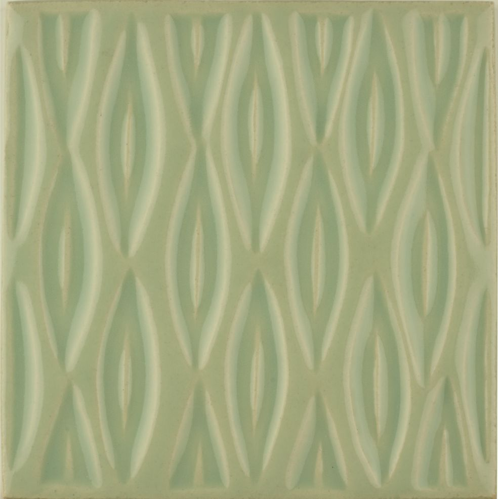 Hand made Maugersbury Lattice Bramley Green tile