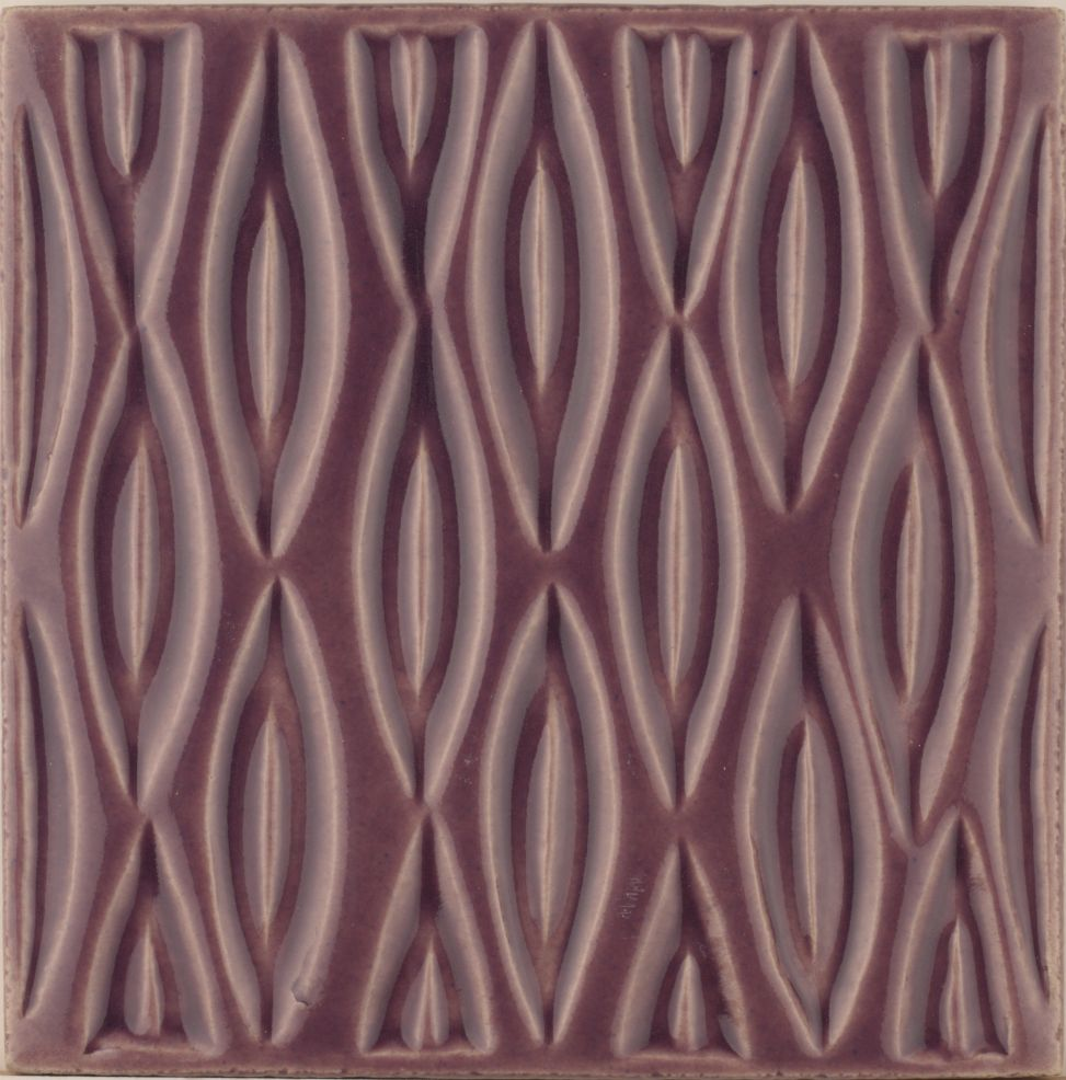 Hand made Maugersbury Lattice Lilac Vertical tile
