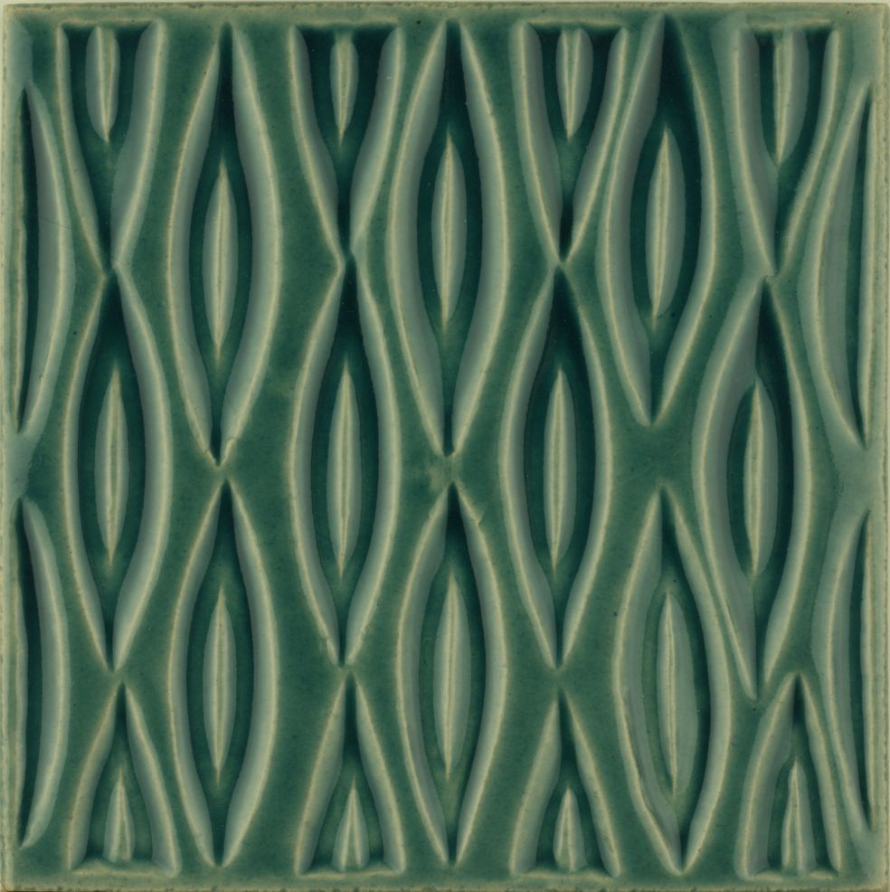 Hand made Maugersbury Lattice Pagham Green tile
