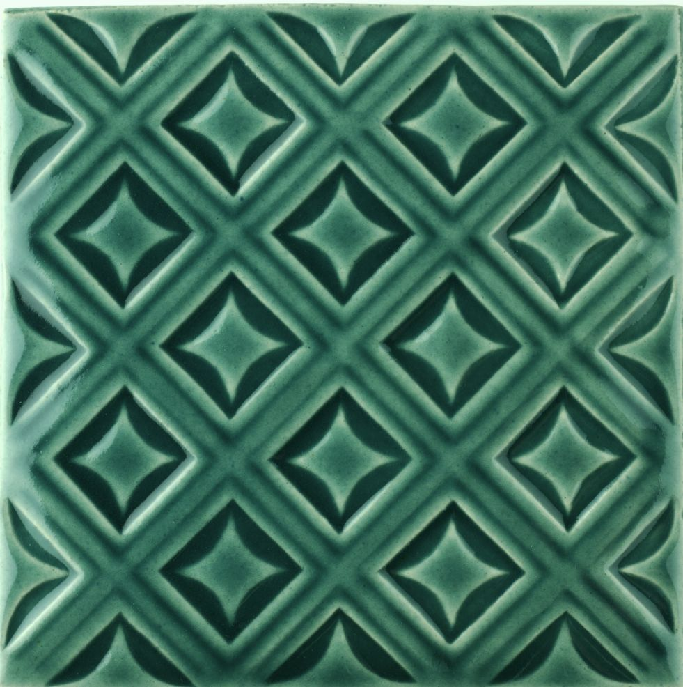 Sarsden Latice Pagham Green tile
