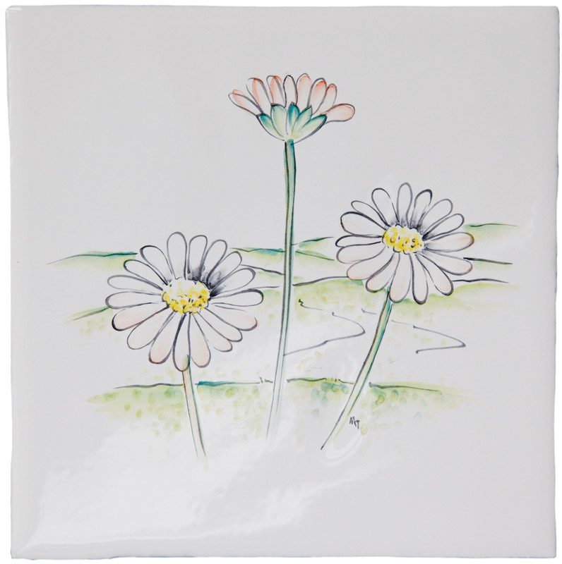 British Wildlife - Daisies on Elements Ivory