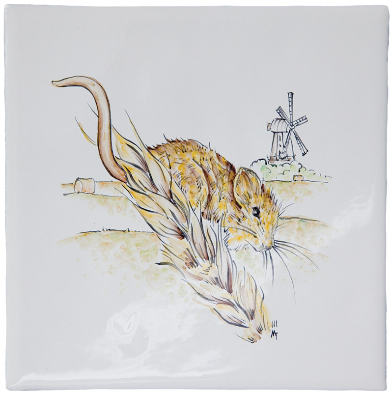 British Wildlife - Fieldmouse on Elements Ivory