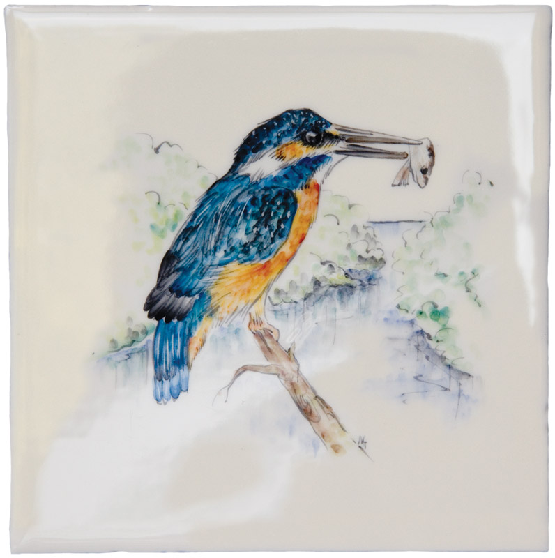 British Wildlife - Kingfisher on Elements Ivory