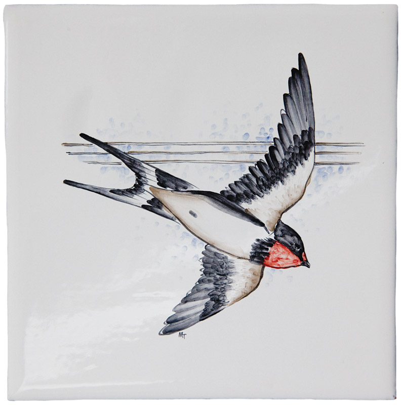 British Wildlife -Swallow on Elements Ivory