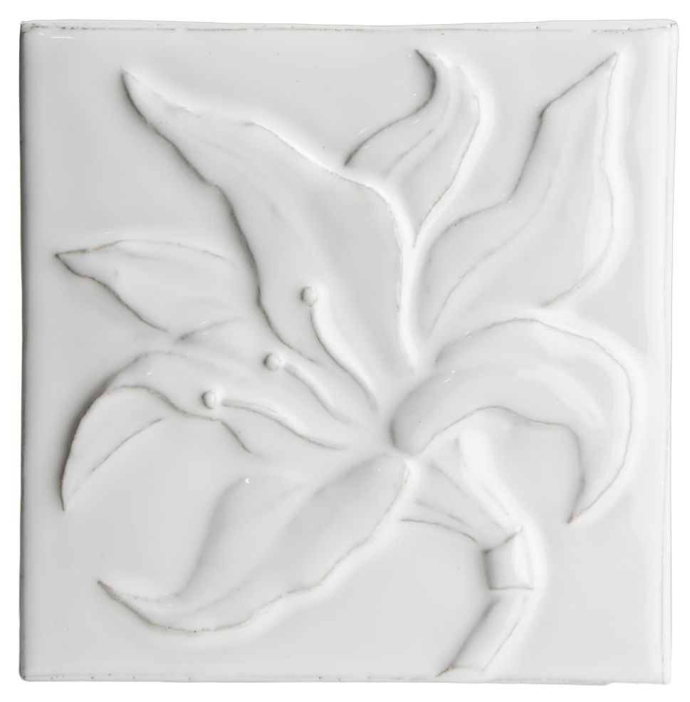 Hand made tile - Botanical Amarylliss