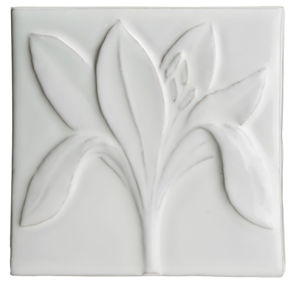 Hand made tile - Botanical Crocus