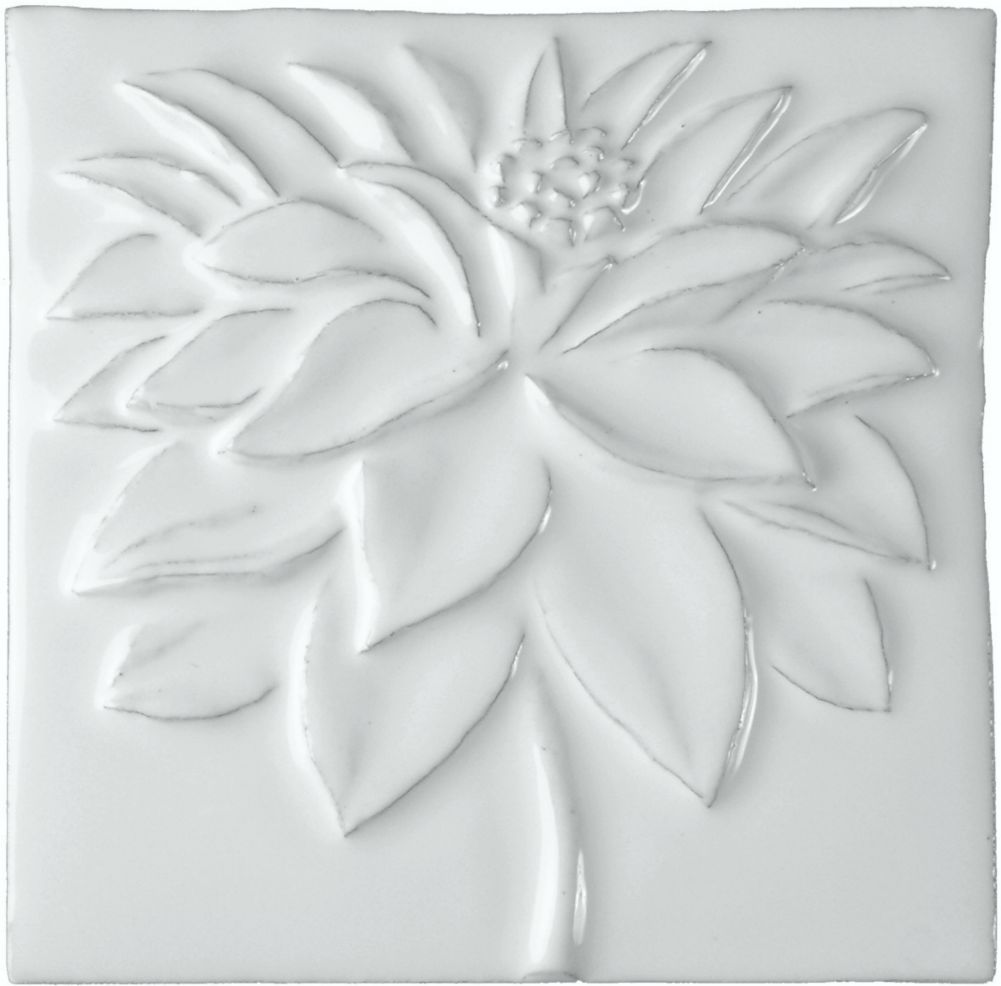 Hand made tile - Botanical Dahlia