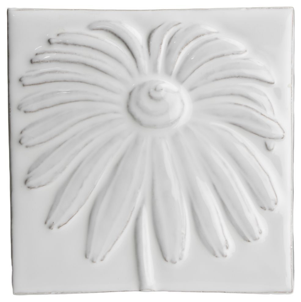 Hand made tile - Botanical Daisy