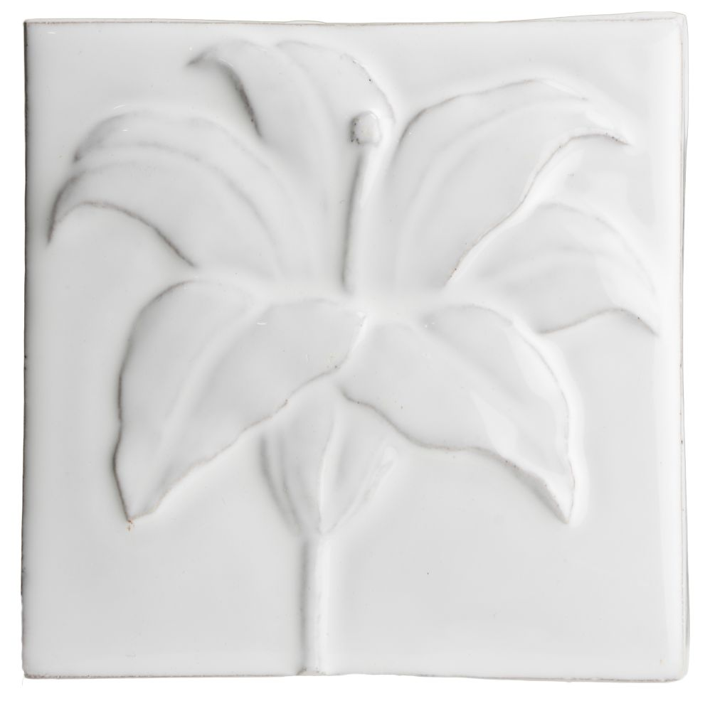Hand made tile - Botanical Lily