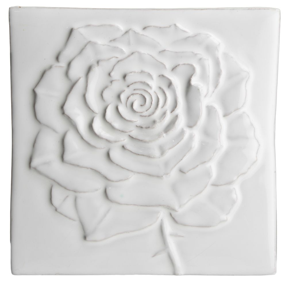 Hand made tile - Botanical Rose