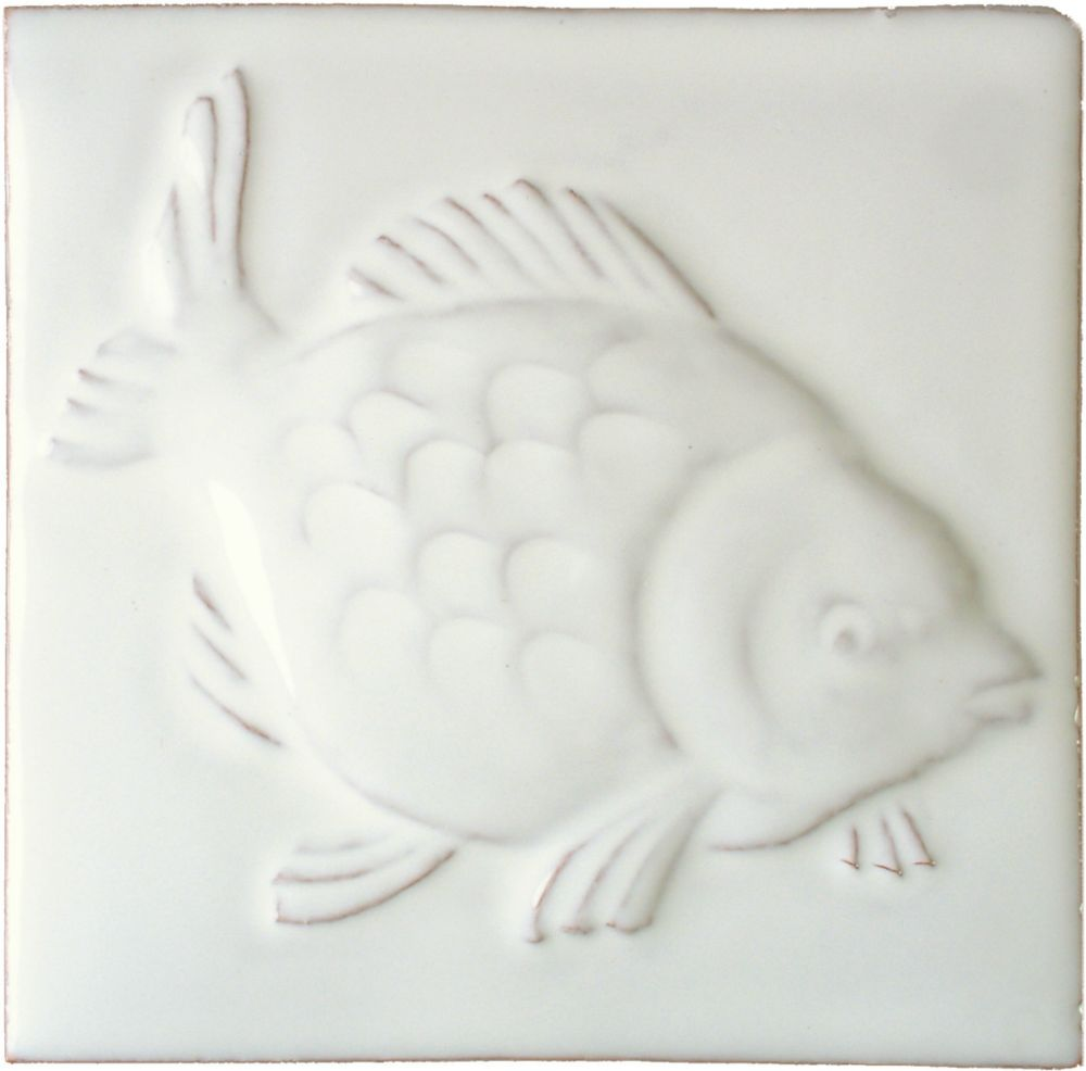Hand made Bass white tile