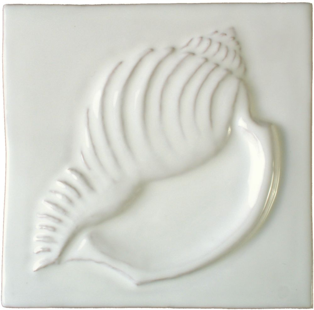 Hand made Conch white tile