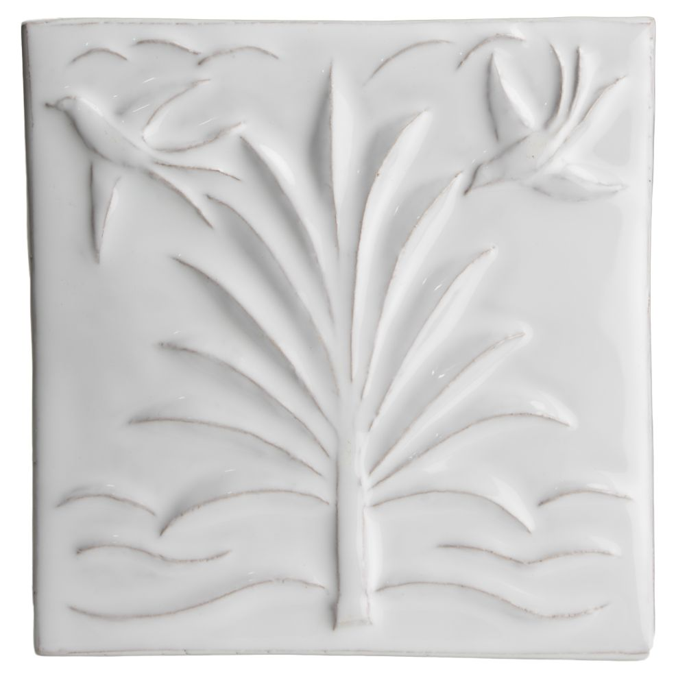 Hand made relief tile - Tapestry Palm Tree