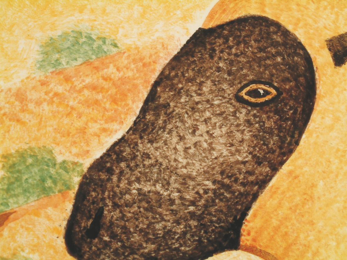 Naive sheep detail