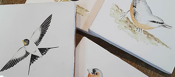 Hand painted Garden Birds. Click to see the wole range...