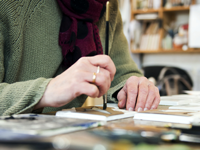 See how our tiles are hand made and hand painted in our Cotswold studios