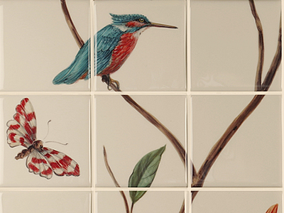 Hand painted tile murals to order