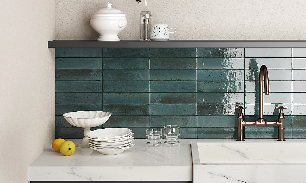 Coloured Tiles - La Lune Blue