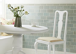 Sudbury Gloss Half Tiles And Sudbury Gloss Kensington Mouldings  (Photo: Winchester Tile Co)