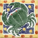 Crab - Green on Blue