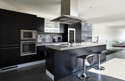 A contemporary Kitchen in greys