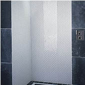 Arctic Single Clear & Frosted Shower