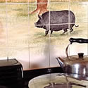 Pot Belly Pig in The Cotswold Country Scene