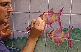 Decorating The Pink Fish