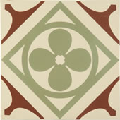 Odyssey - Quatrefoil Dark Red And Pale Green